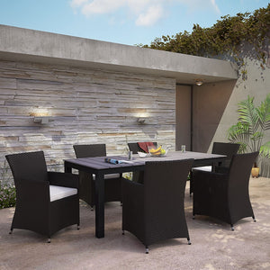 Modway Furniture Modern Junction 7 Piece Outdoor Patio Dining Set-Minimal & Modern