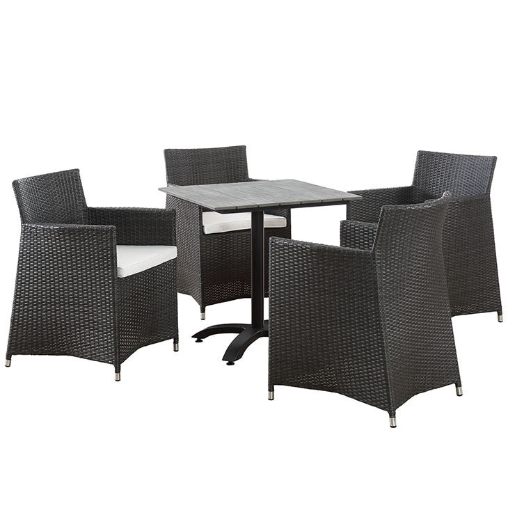 Modway Furniture Modern Junction 5 Piece Outdoor Patio Dining Set-Minimal & Modern