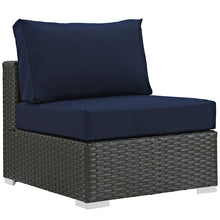 Modway Furniture Modern Sojourn Outdoor Patio Fabric Sunbrella® Armless-Minimal & Modern