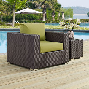 Modway Furniture Modern Convene Outdoor Patio Armchair-Minimal & Modern