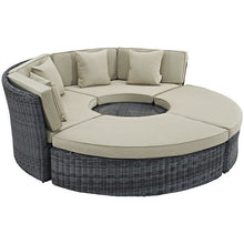 Modway Furniture Modern Summon Circular Outdoor Patio Sunbrella® Daybed-Minimal & Modern