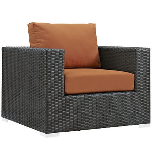 Modway Furniture Modern Sojourn 7 Piece Outdoor Patio Sunbrella® Sectional Set-Minimal & Modern