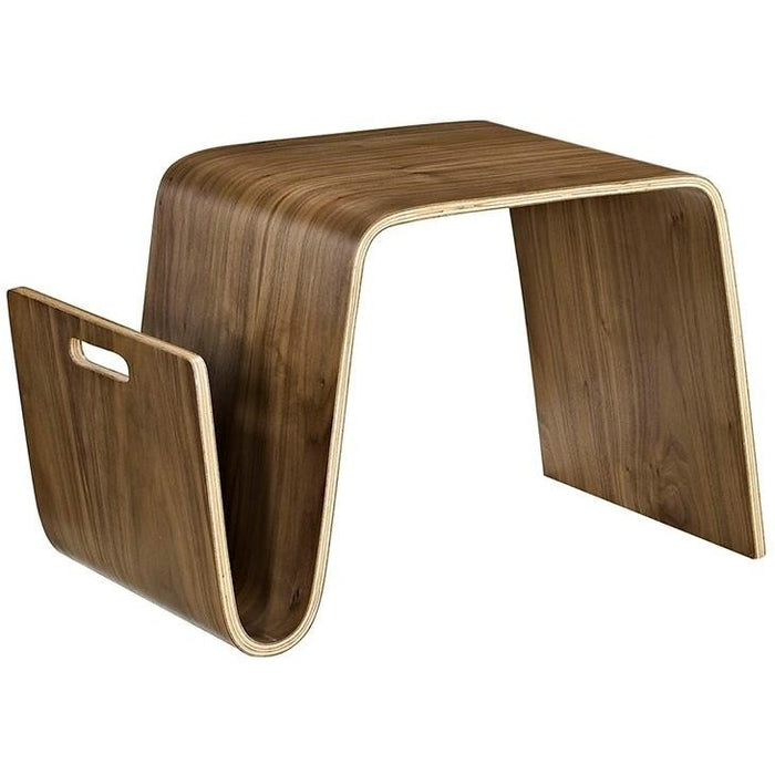 Modway Furniture Modern Polaris Wood Side Table In Walnut EEI-2092-WAL-Minimal & Modern