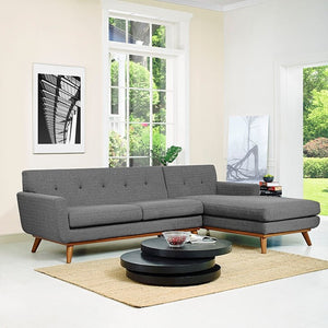 Modway Furniture Modern Engage Right-Facing Sectional Sofa-Minimal & Modern
