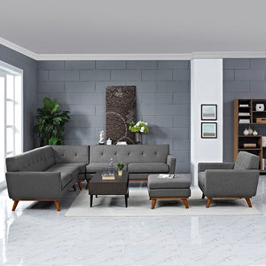 Modway Furniture Modern Engage 5 Piece Sectional Sofa-Minimal & Modern