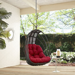 Modway Furniture Modern Whisk Outdoor Patio Swing Chair-Minimal & Modern