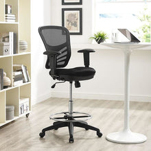 Modway Furniture Modern Articulate Drafting Stool in Black EEI-2289-BLK-Minimal & Modern