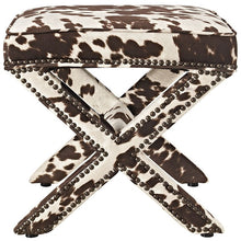 Modway Furniture Modern Rivet Fabric Bench In Cow EEI-2325-COW-Minimal & Modern