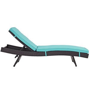 Modway Furniture Modern Convene Chaise Outdoor Patio Set-Minimal & Modern