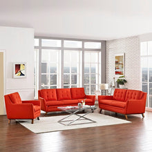 Modway Furniture Modern Beguile Living Room Set Fabric Set of 3-Minimal & Modern