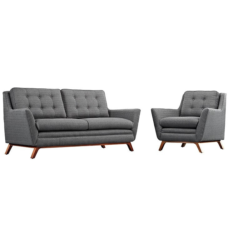 Modway Furniture Modern Beguile Living Room Set Fabric Set of 2-Minimal & Modern