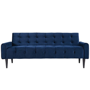 Modway Furniture Delve Velvet Sofa In Navy EEI-2456-NAV-Minimal & Modern