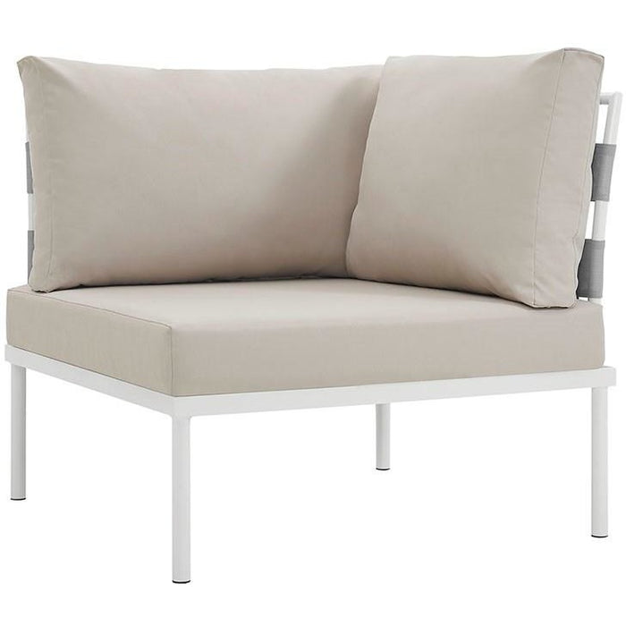 Modway Furniture Modern Harmony Outdoor Patio Aluminum Corner Sofa-Minimal & Modern