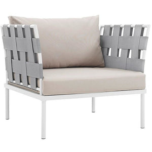 Modway Furniture Modern Harmony Outdoor Patio Aluminum Armchair-Minimal & Modern