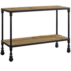 Modway Furniture Modern Raise Wood TV Stand In Brown-Minimal & Modern