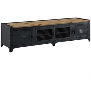 Modway Furniture Modern Dungeon TV Stand In Black-Minimal & Modern