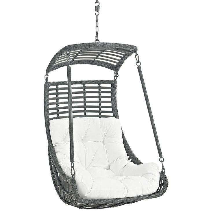 Modway Furniture Modern Jungle Outdoor Patio Swing Chair Without Stand