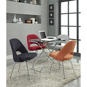 Modway Furniture Modern Cordelia Dining Fabric Side Chair-Minimal & Modern