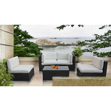 Modway Furniture Modern Camfora 5 Piece Outdoor Patio Sectional Set-Minimal & Modern