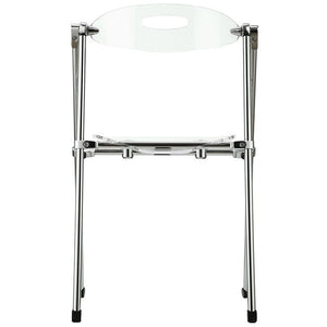 Modway Furniture Modern Telescope Set of 2 Dining Chairs In Clear EEI-923-CLR-Minimal & Modern