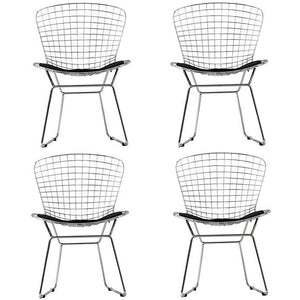 Modway Furniture Modern CAD Dining Chairs Set of 4 In Black EEI-926-BLK-Minimal & Modern