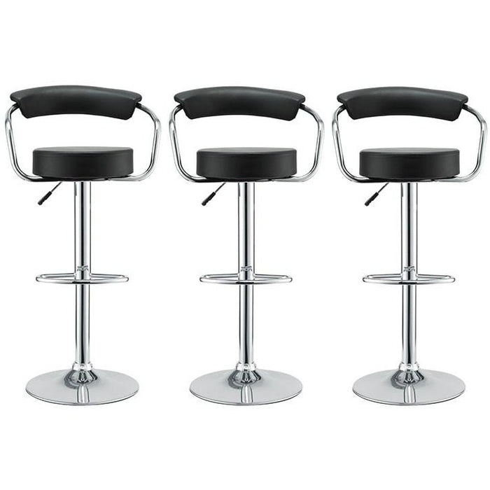Modway Furniture Modern Diner Bar Stool Set of 3 In Black EEI-931-BLK-Minimal & Modern
