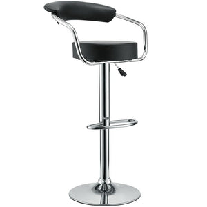 Modway Furniture Modern Diner Bar Stool Set of 4 In Black EEI-932-BLK-Minimal & Modern