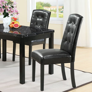 Modway Furniture Modern Perdure Dining Chairs Set of 2 In Black EEI-952-BLK-Minimal & Modern
