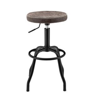 Eaton PU Leather Gaslift Backless Swivel Bar Stool by New Pacific Direct - 9300042