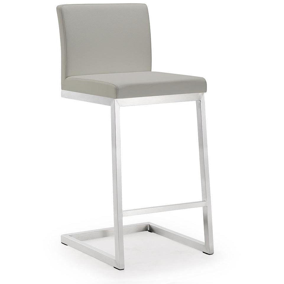 TOV Furniture Modern Parma Light Grey Steel Counter Stool - Set of 2 TOV-K3650-Minimal & Modern