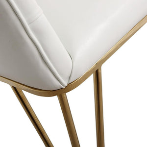 TOV Furniture Modern Lexi White Eco-Leather Dining Chair TOV-D3727-Minimal & Modern