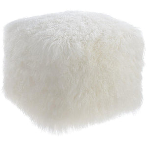TOV Furniture Modern Tibetan Sheep Pouf TOV-C5709-Minimal & Modern