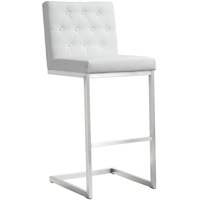 TOV Furniture Modern Helsinki White Steel Barstool - Set of 2 TOV-K3643-Minimal & Modern