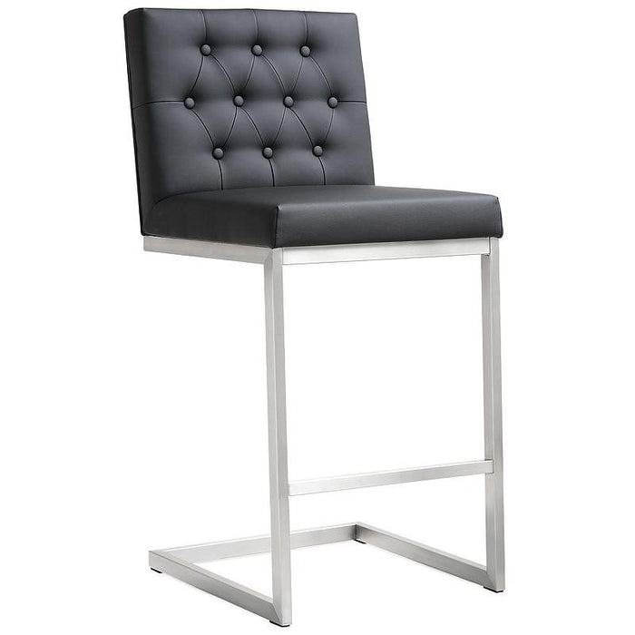 TOV Furniture Modern Helsinki Black Steel Counter Stool - Set of 2 TOV-K3639-Minimal & Modern