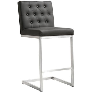 TOV Furniture Modern Helsinki Grey Steel Counter Stool - Set of 2 TOV-K3641-Minimal & Modern