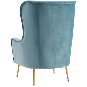 TOV Furniture Modern Ethan Sea Blue Velvet Chair TOV-A145-Minimal & Modern