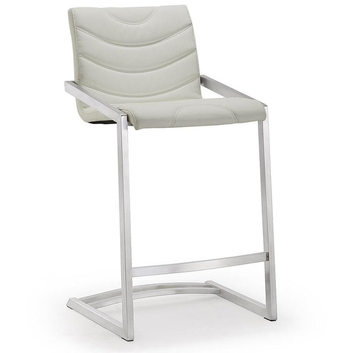 TOV Furniture Modern Rio Light Grey Steel Counter Stool - Set of 2 TOV-K3646-Minimal & Modern