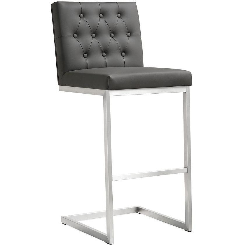 TOV Furniture Modern Helsinki Grey Steel Barstool - Set of 2 TOV-K3644-Minimal & Modern