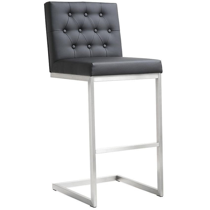TOV Furniture Modern Helsinki Black Steel Barstool - Set of 2 TOV-K3642-Minimal & Modern