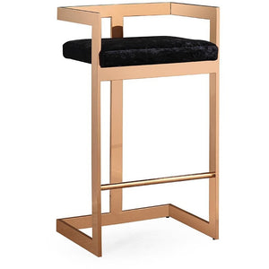 TOV Furniture Modern Marquee Black Velvet Counter Stool TOV-G5476-Minimal & Modern