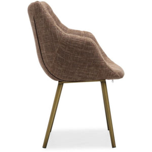 TOV Furniture Modern Finn Brown Tweed Chair (Set of 2) TOV-G5457-Minimal & Modern