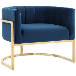 TOV Furniture Modern Magnolia Navy Chair with Gold Base TOV-A146