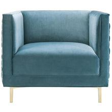 TOV Furniture Modern Sal Sea Blue Woven Chair TOV-A150-Minimal & Modern