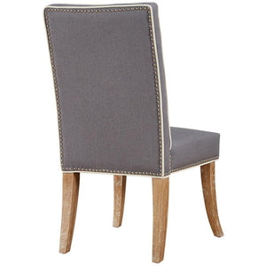 TOV Furniture Modern Garrett Grey Linen Dining Chair - Set of 2 TOV-D2047-Minimal & Modern