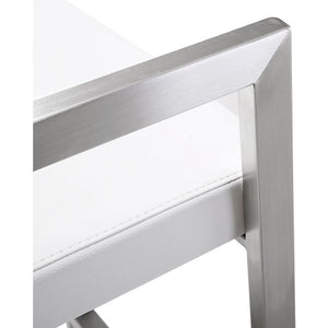 TOV Furniture Modern Milano White Steel Counter Stool - Set of 2 TOV-K3612-Minimal & Modern
