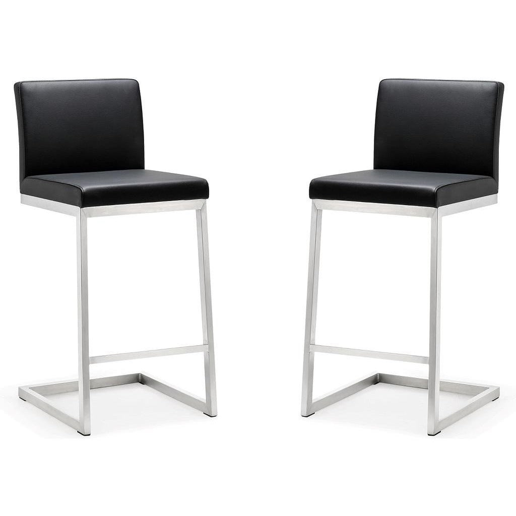Pleasing Tov Furniture Modern Parma Black Steel Counter Stool Set Of 2 Tov K3604 Caraccident5 Cool Chair Designs And Ideas Caraccident5Info