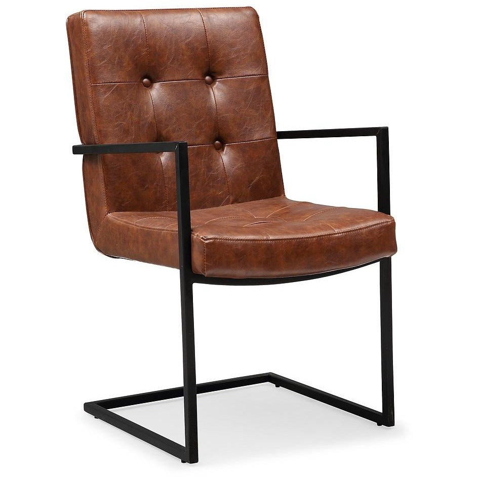 TOV Furniture Modern Stanley Brown Arm Chair TOV-G5467-Minimal & Modern