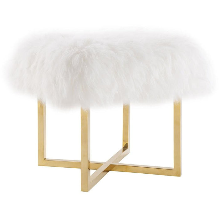 TOV Furniture Modern Nomo Sheepskin Bench TOV-O77-Minimal & Modern