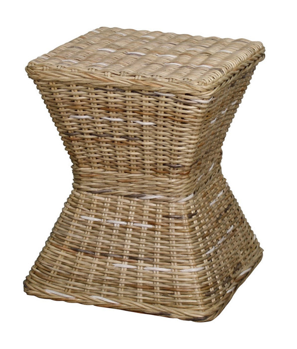 Keoni Rattan Square Stool by New Pacific Direct - 248420