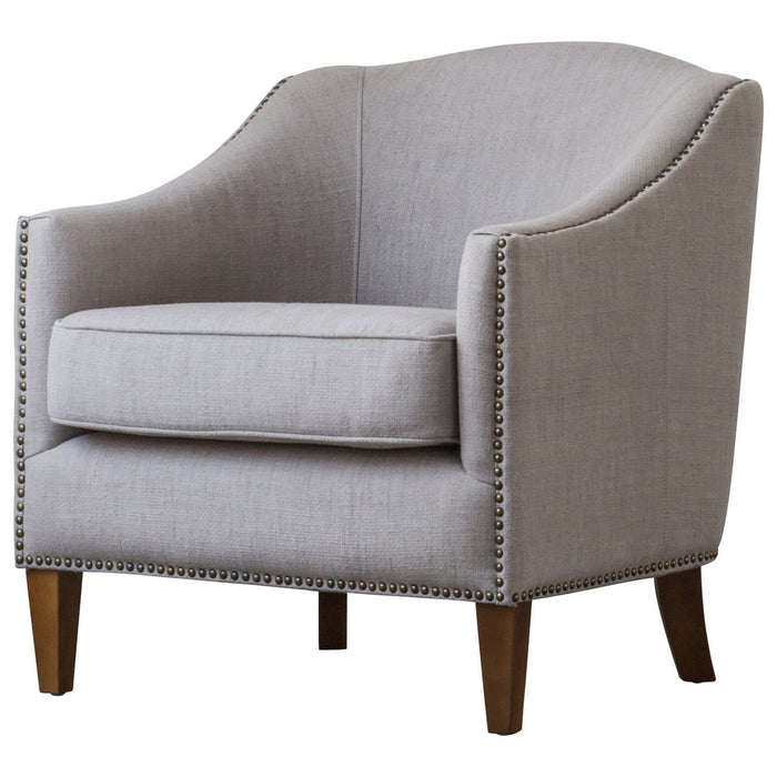 Baxton Fabric Nailhead Chair by New Pacific Direct - 1900118